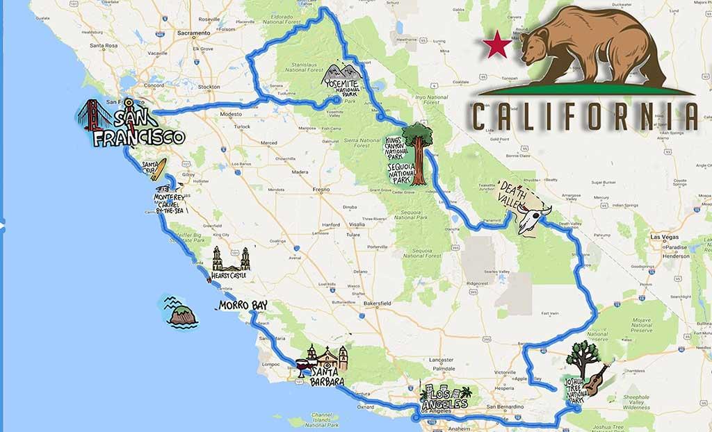 itinerario-california